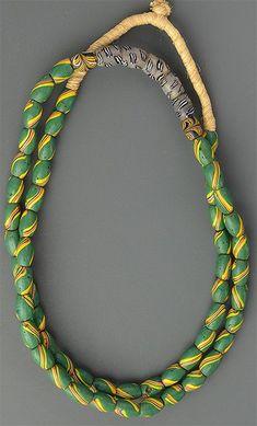 Massively Long Green Striped Trade Beads African Trade Beads, African Jewelry, Ethnic Jewelry, Bohemian Jewelry, Jewellery, Steam Punk Jewelry, Bead Store, Western Jewelry, Black Feathers