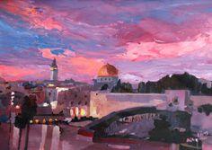 New Painting: Jerusalem at Sunset