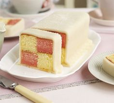 Battenberg cake recipe - Recipes - BBC Good Food - what a gorgeous looking cake! The recipe makes it sound easy to create - I'll be amazed if mine looks so neat! Covered in delish marzipan too! Bbc Good Food Recipes, Cooking Recipes, Def Not, Mary Berry, High Tea, Let Them Eat Cake, Cupcake Cakes, Cupcakes, Cake Recipes