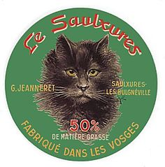 Vintage French cheese label (c. 1930)