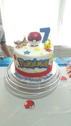 Pokemon cake for a 7th birthday. #pokemon #pokemoncake #chocolatecake #customcake #daleycakesplus