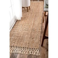 The Gray Barn Antelope Springs Chunky Jute and Wool Tassel Runner Rug - x (Natural), Size x Joss And Main, Deco Rose, Kitchen Rug, Kitchen Runner, Bathroom Runner Rug, Floors Kitchen, Kitchen Black, Kitchen Carpet, Kitchen Wood