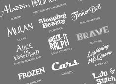 50+ Free Disney Fonts