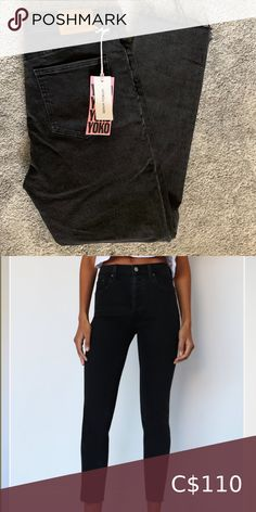 Aritzia Denim Forum Yoko Jeans Size 29 Brand new with tags! Black eyeliner colour Super cute, only selling because they don't fit me :( Aritzia Jeans High Rise High Jeans, Black Jeans, Black Eyeliner, Plus Fashion, Fashion Tips, Fashion Trends, Yoko, Jeans Size, Super Cute