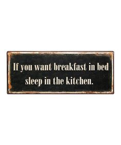 Take a look at this Black 'Breakfast' Sign by VIP International on #zulily today!