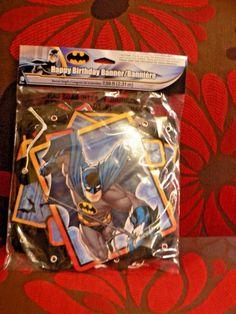 Batman Birthday Party Banner Supplies USA Seller #DesignWare #BirthdayChild