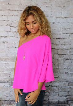 Playa Cape Top in Hot Pink at @unhingedboutik. Order Unhinged Boutique at www.unhingedboutique.com
