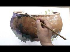 3권 73페이지 - YouTube Watercolor Video, Watercolour Tutorials, Watercolor Techniques, Abstract Watercolor, Painting Techniques, Watercolor Paintings, Painting Videos, Painting & Drawing, Still Life Oil Painting
