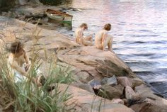Outdoors by Anders Zorn, oil.