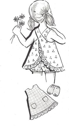 1960s Child's Pinafore Pattern Panties Vintage Mail by SelmaLee