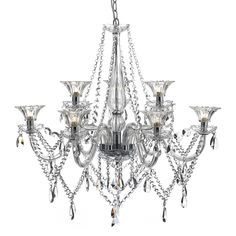 The Emma 9 chandelier would make a stunning addition to any home and right now it's nearly half price http://ss1.us/a/LkIGTsos #Chandelier