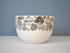 I have this bowl! Didn't know it had much value. HA!! Too cool.   Vintage Kaj Franck Finel Mushroom Bowl