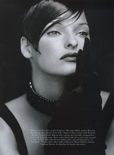 Harper's Bazaar - Sheer Nights - Linda Evangelista - New York - Nov 1992