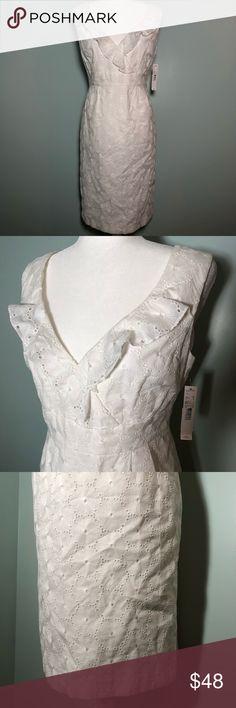8c09825111e Antonio Melani White Sleeveless Dress NWT Antonio Melani White Sleeveless  Dress. Zips up the back