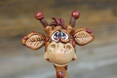 Spotted Giraffe Polymer Clay Sculpture