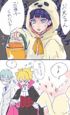 Imagen de fanart, haloween, and himawari uzumaki