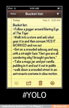Bucket list / iFunny :)