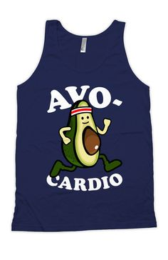 b1bd099cdabf8 Funny Exercise Tank Avo-Cardio Running Gifts Bella Canvas Runner Clothing Work  Out Clothes Gym Apparel Fitness Tank Mens Tanks WT-177