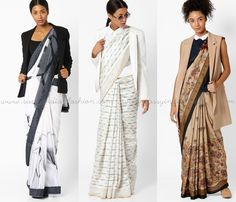 Here are our 15 DIY Indo western saree draping ideas and blouse designs that will make you create a stylish saree look without spending a ton! Blouse Back Neck Designs, Sari Blouse Designs, Churidar, Anarkali, Lehenga, Shalwar Kameez, Trendy Sarees, Stylish Sarees, Saree Draping Styles