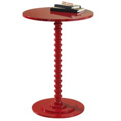 Red table.
