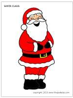 Large Colored Santa Claus