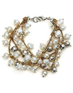 White Pearl Bracelet - Accessories - Lucky Brand Jeans - Jewelry inspiration:
