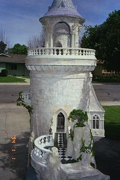 Frogmorton Studios. Part of the castle. I love the marble walkway.
