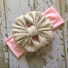 SPARKLE COLLETION  Pink Champagne Messy Bow by rubyblueinc on Etsy