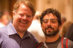 Robert Scoble and Google Co-Founder Sergey Brin at Last Night's Dinner in the Dark in San Francisco by Thomas Hawk, via Flickr