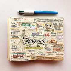José Naranja notebook. Anna Karenina: Characters and links between them.