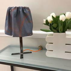 Lampada base ferro con paralume destrutturato by Tweak design collezione P/E 2017 sale for 120 euro