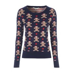Womens Novelty Christmas Jumper ($19) ❤ liked on Polyvore featuring tops, sweaters, fitted tops, fitted sweater, christmas jumper, christmas sweater and christmas tops