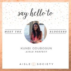 Meet all our fabulous editors!  Kunbi O. is the Founder and Editor of @AislePerfect. She loves all things elegant and is obsessed with cool personalized details. Shes excited to be a part of @AisleSociety and cant wait to inspire the #WeddingSlayer in you! photography: @collinsmetu  #aisleperfect #apbridesmaids #apbling  #aislesociety #aislesocietydebut by aislesociety