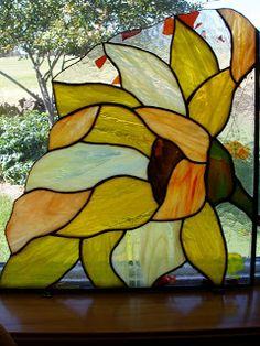 Sunflower corner by Rick Hickmann Art Glass