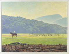 """Sally on Horseback. Asgaard,"" Rockwell Kent, oil on canvas, The Pushkin Museum of Fine Arts."