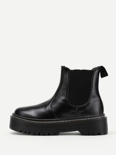 Ankle Mid Heel Boots with Round Toe. Boots have No zipper. Perfect choice for Casual wear. Trend of Spring/Autumm-2018. Designed in Black.
