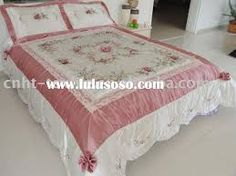images of ribbon embroidery - Google Search Bed Sheets Online, Bed Rest, Quilts For Sale, Silk Ribbon Embroidery, Quilt Cover, Beautiful Butterflies, Bed Spreads, Machine Embroidery Designs, Mattress