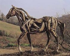 The artist is Heather Jansch. This one of her amazing driftwood sculpures.