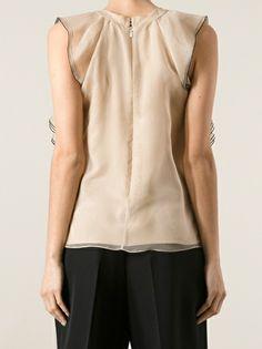 CHLOÉ - ruffle detail blouse  got a glimpse at the back. Sooooo simple. Love this