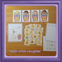 Popcorn Fun Digraph Sorting Station - useful for whole class, small group and individual word work.