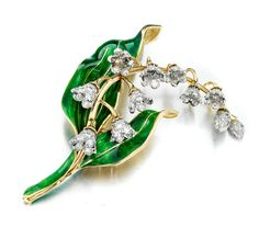 A diamond and enamel brooch by Tiffany & Co on auction by Bonhams New York http://www.luxuryfacts.com/index.php/sections/article/Vivid-colored-diamonds-and-art-deco-classics-headl