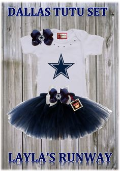 Dallas Tutu Outfit (Choose Your Name) Logan's Locker Layla's Runway specializes in creating unique personalized apparel and accessories with a great look for your little boys or girls of all ages. Our personalized apparel products make great personalized gift ideas for friends and family and are perfect for new born babies, toddlers, teens birthdays, family reunions, fundraisers, special occasions.