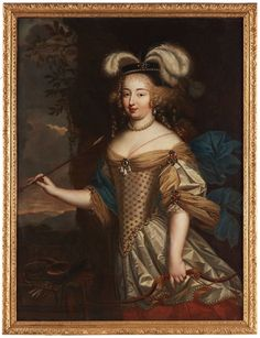 Madame de Montespan as the goddess Diana, 17th century by Pierre Mignard