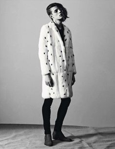 "Saint Laurent brings back some ""101 Dalmatians"" memories with this spotted fur coat"