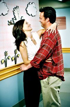 Monica and Chandler. Cause I'm a bit crazy and obsessive, and he loves me anyway just the way I am.