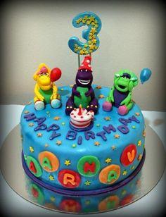 Barney & Friends Cake - by Val Santiago-- Deliciosa @ CakesDecor.com - cake decorating website