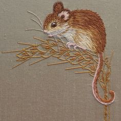 Silk Shading Harvest Mouse – The Bluebird Embroidery Company