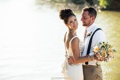 Photo by JM Studios Omaha -- lake wedding