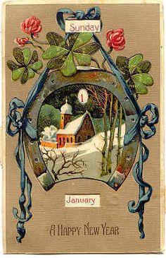 Paul Finkenrath of Berlin Vintage Mechanical Calendar Post Card.  Karodens Vintage Post Cards