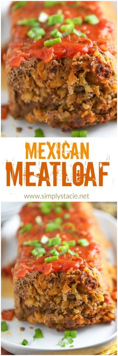 Mexican Meatloaf - A spicy twist on a classic recipe! This Mexican Meatloaf is packed with beef, cheese, seasonings, chilies and salsa.
